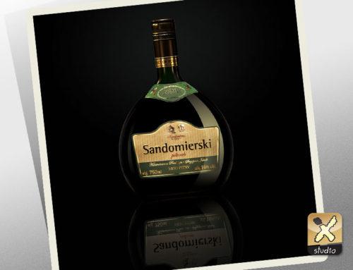 fotografia produktu – butelka Miód Sandomierski