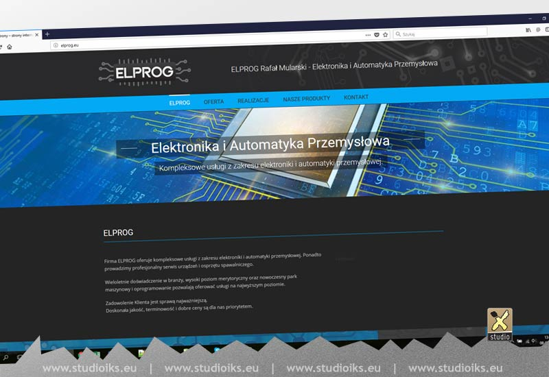 Elprog - strona internetowa