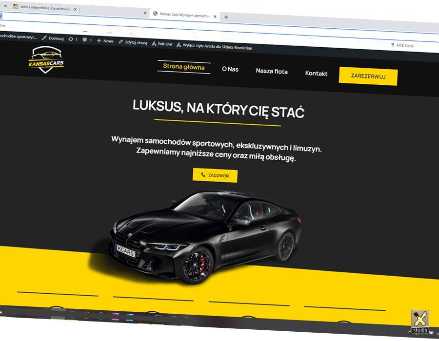 Strona internetowa wypożyczalnia samochodów